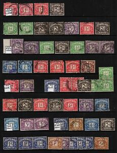 1324 Postage Due Collection: 1911-80. Values to 2s6d. On 2 Hangers.