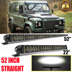 "6D 52INCH +22"" LED Work Light Bar High Output For LAND ROVER DEFENDER 90 110 130"