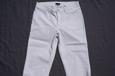 NYDJ Not Your Daughter's Jeans White Embellished Devin Crop Jeans. Women's 8P.