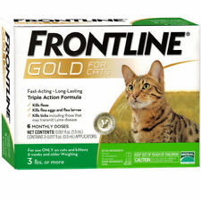 Frontline Gold For Cats And Kittens Over 3 Lbs 6 Doses Plus Free Shipping