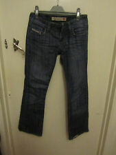 Ladies Diesel Industry Model 30193 Low Rise Blue Bootcut Jeans Size 28 in - L30