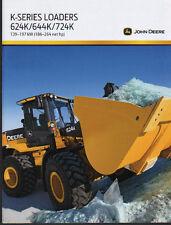 John Deere 624K, 644K and 724K K-Series Wheel Loader Shovel Brochure Leaflet