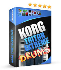 Korg Triton Extreme Drum Samples Sounds Reason FL Studio Logic Akai MPC 1.43GB