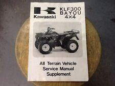 Kawasaki Manual KLF300 Bayou 4x4