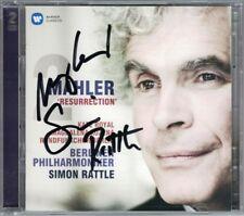 Sir Simon RATTLE & Magdalena KOZENA Signiert MAHLER Symphony No.2 Kate ROYAL 2CD