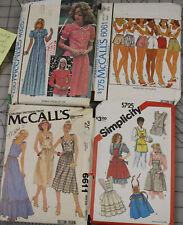 Vintage Women's Hot Pants Summer Dresses Apron Pattern You Choose