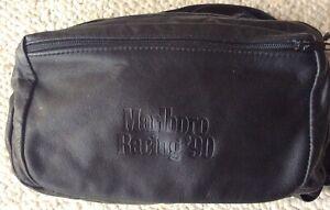 Rare Vintage Team Penske Marlboro Racing '90 Indycar/CART Blk Leather Fanny Pack