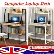 Black/White Computer Laptop Desk Wooden Metal Small Table For Study Work Desktop