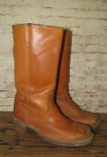 SQUARE TOE FRYE DISTRESSED VINTAGE LEATHER BROWN CAMPUS BOOTS SIZE 10.5 D
