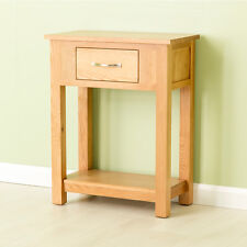 Carne Oak Small Console Table / Oak Hall Table / Solid Oak Telephone Table