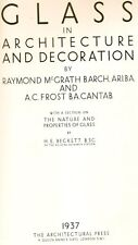 Raymond McGrath GLASS in ARCHITECTURE & DECORATION 1st Ed 1937 art deco nouveau
