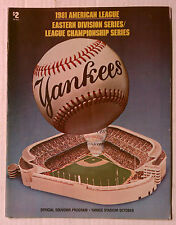 NEW YORK YANKEES 1981 CHAMPIONSHIP OFFICIAL MAGAZINE SOUVENIR PROGRAM BOOK