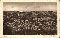 Jena Thüringen alte Ansichtskarte ~1920/30 Gesamtansicht von Westen mit Landgraf