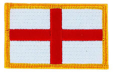 FLAG PATCH PATCHES ENGLAND ENGLISH ST GEORGES CROSS IRON ON EMBROIDERED SMALL