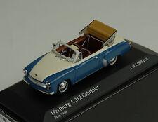1958 Wartburg A312 Cabriolet Blue White Blue White 1:43 Minichamps