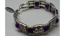 bracelet boule violet rigide