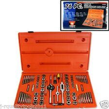76 PCS ALLOY TAP & HEXAGON DIE SET SAE+MM CASE INCLUDED