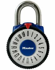 "MASTER Padlock Magnified Combination  Padlock 1588D 2-1/8""- PICK COLOR  FREE SH"