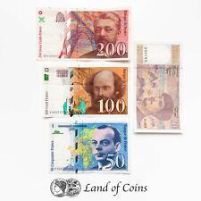 More details for france: set of 4 french franc banknotes.