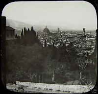 Glass Magic Lantern Slide FLORENCE C1890 PHOTO ITALY .. FIRENZE