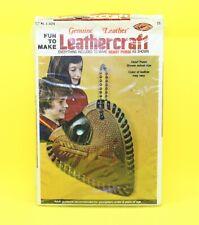 Leathercraft Fun To Make Heart Purse Old Store Stock 1976