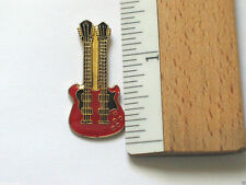 Fender Double Neck Guitar Red Vintage Enamel Pin