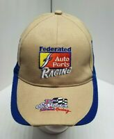 Ken Schrader Racing Federated Auto Parts Mesh Hat Cap Embroidered Blue Tan