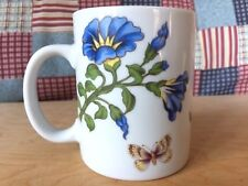 Cordon Bleu Flowers Leaves Butterflies Floral Mug Hand-decorated USA Multi-color