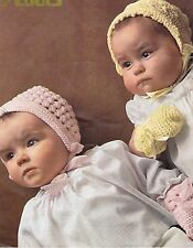 VINTAGE ~ Bambini ~ COFANI ~ Mittens ~ Crochet Pattern ~ Size Fit fino a 6 MTS (CB2)