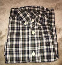 Oshkosh Shirt boys size 5 plaid button down long sleeve Nice!