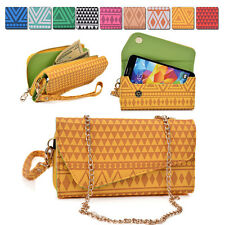 Convertible Aztec Smart-Phone Wallet Case Cover & Crossbody Clutch MLUC29