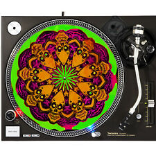 Portable Products Dj Turntable Slipmat 12 inch - Alien Voodoo Skull