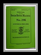 Singer 29k Sewing Machine Instructions Manual Booklet