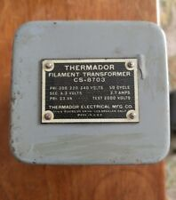 Vintage Thermador CS-8703 Filament Transformer