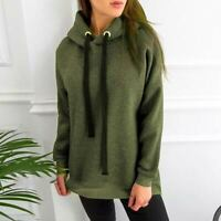 Loose Top Hooded Jumper Hoodie Ladies Womens Pullover Sweater Sweatshirt