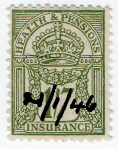 (I.B) George V Revenue : Health & Pensions Insurance 1/7d