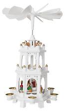 Brubaker Pyramide de Noël en bois peintes À la Main 3 Étages hauteur 45 cm