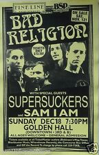 BAD RELIGION / SUPERSUCKERS 1994 SAN DIEGO CONCERT POSTER - Classic Punk Music