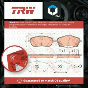 Brake Pads Set fits TOYOTA AURIS Front 1.6 1.6D 12 to 18 TRW 0446502390 Quality