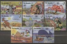 Walt Disney, Alphabetisierung, Tiere - Gambia - 1198-1205 ** MNH 1991