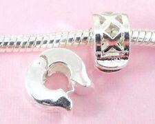 10pcs Silver Plated Clip Lock Stopper Beads Fit European Charm Bracelet K2