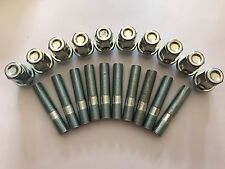 10 X M12X1.25 ALLOY WHEEL STUDS + NUT CONVERSION 60mm LONG FITS FIAT 2 58.1