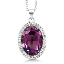 "Multi-color Rhodium Plated Pendant With 18"" Chain Made with Swarovski® Crystals"
