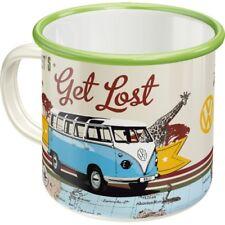 VW original Emaille Tasse Kaffeetasse Mug Becher Tee Haferl Bulli Volkswagen Bus
