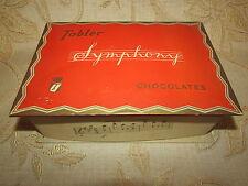 Large Vintage Collectable Cardboard Tobler Symphony Chocolates Box