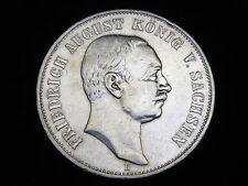 Dt.Reich, Sachsen, 5 Mark, 1907 E, Friedrich August, J.-136, Silber.! ss/vz.!