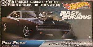 Hot Wheels Premium 'Fast & Furious- Full Force' Set of 5  Cars