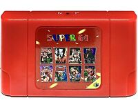 New Super 64 Retro Game Card 340 in 1 Video Games Cartridge for N64 Game Console