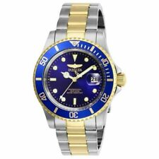 Invicta Pro Diver 26972  Blue Dial Two Tone Stainless Steel Wrist Watch for Men