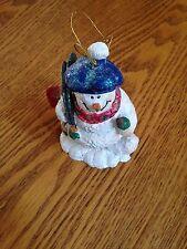Sparkley Snowman Ornament Dressed in Ski Attire